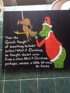 Grinch Christmas Canvas 16x20 On Etsy 2799