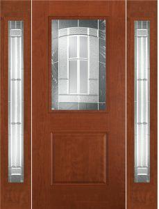 Masonite 2 Panel Craftsman Croxley Glass Smooth Finish