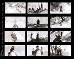 Storyboard for The Faun Gabriel