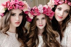 pretty pink floral crowns
