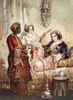 Portrait of a Wealthy Turkish Woman (Ottoman Empire) CE Painting) -Amadeo Preziosi (Artist; Malta, Turkish Art, Historical Art, Naive Art, Old Master, American Artists, Flower Art, Find Art, Giclee Print