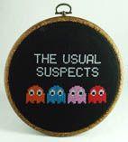 Pac Man Cross Stitch...LOL