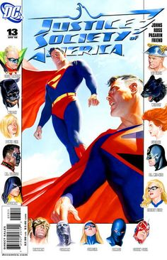 Justice Society of America (#13) - cover by Alex Ross