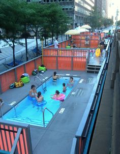 repurposed dumpster pools in NYC