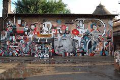 Nelio, Collaborations in Berlin - unurth   street art #streetart