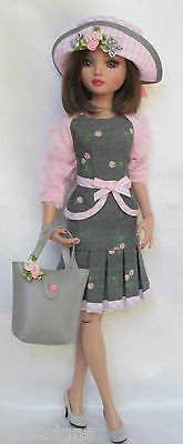 "ELLOWYNE'S PINK-AND-PRETTY 8-pc. MIXABLE WARDROBE. FOR 16"" ELLOWYNE, ETC., by ssdesigns via eBay SOLD 6/27/15  $89.99"