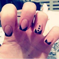 Love tuxedo nails!