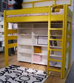 Raised Bed - Bunk Bed - Mathy by Bols - With Desk