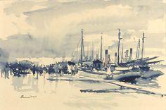 Edward Seago | Untitled Harbour