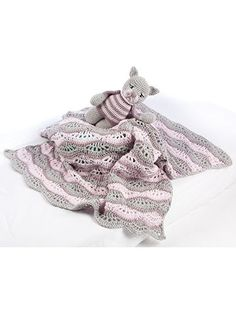 Baby Blankets & Toys - Five easy-to-stitch baby blankets with matching toys are included in this pattern book by Teri Crews . All ten designs are made using medium-weight yarn. Toys are stuffed with fiberfill and crocheted in the round. Skill Level: Easy to Intermediate Available at www.maggiescrochet.com