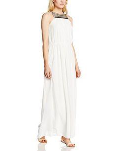 Vestido Maxi, lineas sueltas, relajadas y una suave mezcla del color blanco y rosa.    Un vestido perfecto, para tus tardes de paseo.    Este es el Look que querrás llevar ahora.    Casual o refinado, tú tienes la última palabra, prácticalo sin miedo.