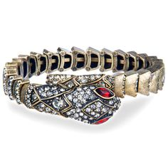 Chloe + Isabel Pave Snake Wrap Bracelet
