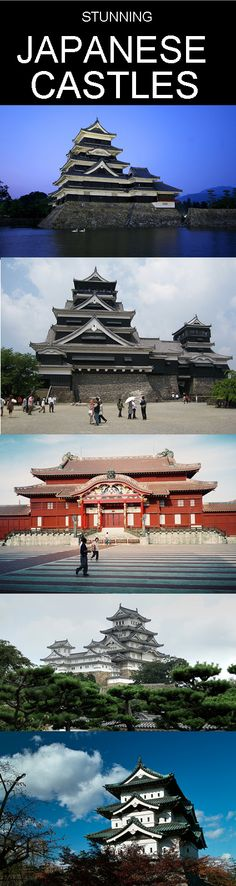 10 stunning Japanese castles, including Himeji Castle, Edo Castle and others.