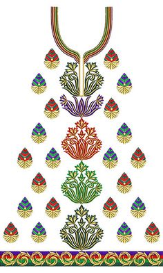 8503 Neck Embroidery Design