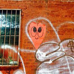 Street art at Williamsburg  We have something like this in Paris too!