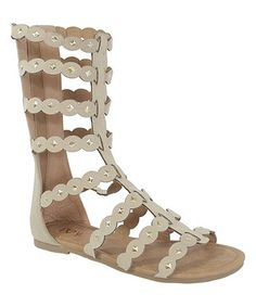 This Beige Strappy Paula Sandal is perfect! #zulilyfinds