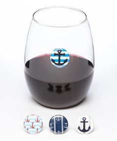 Another great find on #zulily! Ship Shape Wine Charm Set by Il bere #zulilyfinds