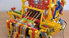 Lego Mechanical Loom Machine - simply THE coolest lwgo thing I've ever seen!!! Watch it to the end (or forward a bit).