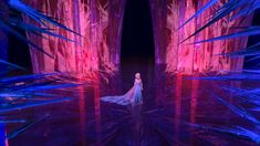 Elsa and her ice castle from Frozen