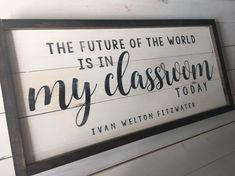 Teacher's Gift Teacher Wood Sign Farmhouse Wall Decor | Etsy