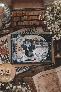 Bullet Journal Notebook, Bullet Journal Ideas Pages, Bullet Journal Inspiration, Journal Paper, Scrapbook Journal, Harry Potter Journal, Aesthetic Letters, Cute Scrapbooks, Pen Pal Letters