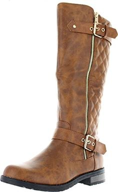18e092456f6 West Blvd Atlanta Quilted Riding Boots synthetic Heel   Platform   Shaft  low-heels   knee-high   round-toe does-not-contain-animal-products
