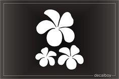 Plumeria Car Window Decals & Stickers | Decalboy