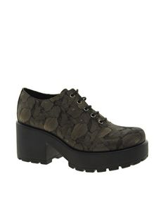 Vagabond Dioon Lace Up Bronze Heeled Shoes