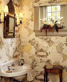 papel baño mapamundi