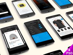 Smartphones App Screens Mockup
