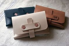 Corter Leather wallets that Gena and Ted of Symmetry Goods seriously dig.