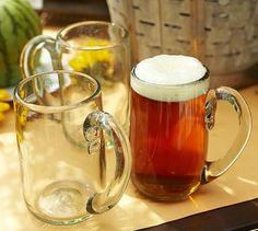 Gypsy Interior Design Dress My Wagon| Serafini Amelia| RV Styling-Casa Recycled Glass Beer Mug, Set of 6 #potterybarn