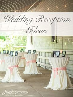 Need beautiful wedding reception ideas? Here are simple but elegant ideas anyone can do!