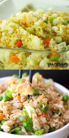 This quick and easy fried rice recipe is better than take out! I'm craving real, authentic, homemade stir fry rice lately. It's a go-to comfort food for me. The simple stir fried rice recipe I'm shari Quick And Easy Fried Rice Recipe, Stir Fried Rice Recipe, Best Rice Recipe, Stir Fry Rice, Easy Rice Recipes, Asian Recipes, Healthy Recipes, Simple Fried Rice, Vegetables
