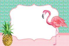 Convite no tema flamingo Flamingo Party, Flamingo Birthday, Invitation Fete, Invitations, Summer Birthday, Birthday Parties, Pink Flamingos, Baby Shower Parties, Party Themes