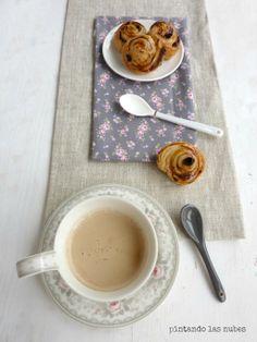 Desayuno de domingo: Caracolas de hojaldre