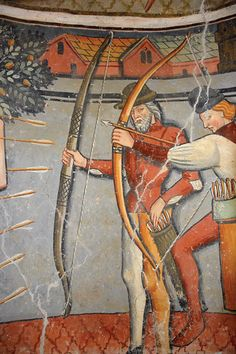 Medieval Archer, Medieval Art, Medieval Weapons, Longbow, Medieval Costume, Bow Arrows, Fantasy Weapons, Medieval Clothing, 15th Century