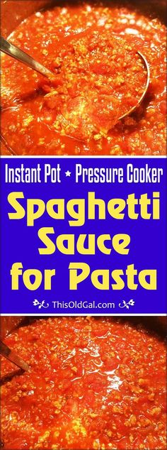Pressure Cooker Spaghetti Sauce (Bolognese) is great for meat lovers and vegetarians.  Choose whether or not, you want to add meat.  Choose the type of meat. via @thisoldgalcooks