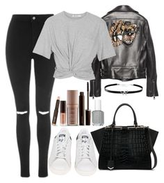 """""""Untitled#1542"""" by mihai-theodora ❤ liked on Polyvore featuring Topshop, Gucci, T By Alexander Wang, adidas, Fendi, Giani Bernini and Laura Mercier"""