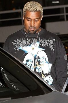 b66e9f76dd5 Kanye West wearing Fan Merchandise Cradle of Filth Long Sleeve t-Shirt  Cradle Of Filth