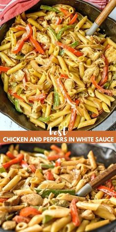 Easy Chicken Recipes, Pasta Recipes, New Recipes, Cooking Recipes, Healthy Recipes, Recipes With Chicken And Peppers, Recipies, Fall Recipes, Favorite Recipes