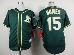 Oakland Athletics #15 Jonny Gomes 2014 Green Jersey
