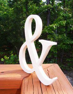 "10"" DIY Wooden Ampersand, Photography , DIY, Wedding Decor , Engagement, Wooden Alphabet Letters, Photography prop"