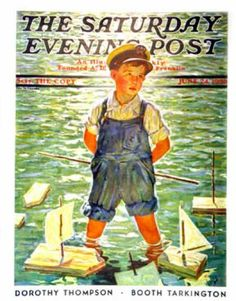 Saturday Evening Post - 1933-06-24: Toy sailboats (Eugene Iverd)
