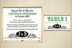 Vintage Western Typography (Ceremony and Reception Stationery Suite)