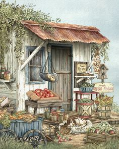 Uncle Ralph's Veggies Print by Beverly Levi-Parker.  All prints are professionally printed, packaged, and shipped within 3 - 4 business days. Choose from multiple sizes and hundreds of frame and mat options.