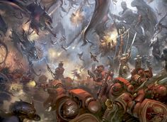 Warhammer 40k,Blood angels vs Tyranids