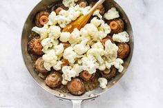 Garlic Butter Mushrooms Cauliflower Skillet - - This mushroom and cauliflower recipe is super nourishing and easy to whip up - by Tasty Vegetarian Recipes, Vegetable Recipes, Healthy Recipes, Veggie Side Dishes, Vegetable Dishes, Garlic Butter Mushrooms, Cauliflower Mushroom, Vegan Cauliflower, Califlower Recipes