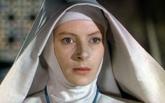"""""""Black Narcissus,"""" 1947. Deborah Kerr leads a band of Anglican Nuns on a windswept mountain top in Tibet. Nearly every frame of this film is a work of art. Flora Robson as Sister Philippa steals the film as a nun in the throes of sexual hysteria. Not surprising ar Robson was having a torrid affair with director Michael Powell during production."""