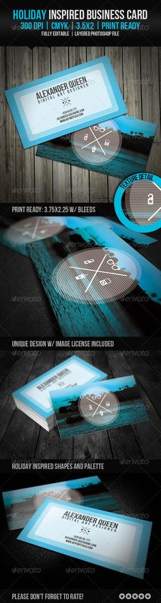 Holiday Inspired Business Card - GraphicRiver Item for Sale